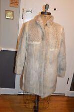 JOI gray white checkerboard mink fur coat jacket