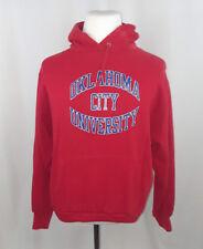 Vintage Champion  Oklahoma City University Stars Red Hooded Sweatshirt Size L