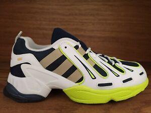adidas OriginalsEQT Gazelle Casual Trainer Running Shoe Size 9 Navy/Gold Yellow