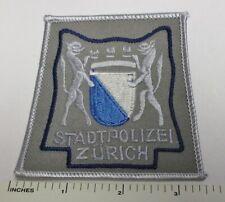ZURICH SWITZERLAND STADT POLIZEI POLICE PATCH Merrowed Edge Original SWISS