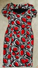 M & S COLLECTION RED CIRCLE DRESS 14