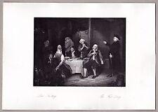 """A.H.Payne - Fasten, Fastentag - """"erwischt vom Pfarrer"""" - Stahlstich 1846"""