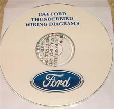 1966 FORD THUNDERBIRD WIRING DIAGRAM MANUAL ON CD