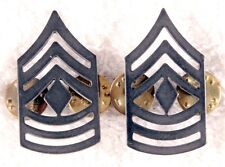 Enlisted Rank Pin:   Army First Sergeant, subdued (pair)