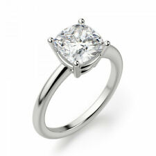 Certified 1.62 Carat D-VS1 Natural Cushion Diamond SOLITAIRE Engagement Ring