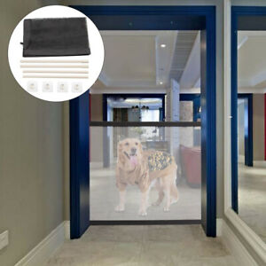 Portable Magic Mesh Pet Dog Cat Gate Door Barrier Safe Nets Guard Install Fence