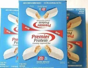 60 Premier Protein Bar Vanilla Almond ~ 20g Protein ~ Gluten Free ~ BB 05/2021