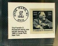 1982 Twenty Cent Franklin D. Roosevelt Stamp GMA Gem MT 10