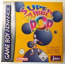SUPER BUBBLE POP NINTENDO GAME BOY ADVANCE NUOVO