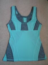 LULULEMON RECHARGE AQUA & GREY TANK SIZE 8 *EXCELLENT!*