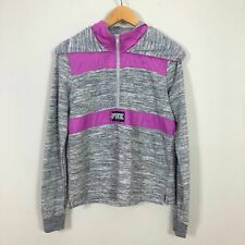 PINK by Victoria's Secret Pullover Pink & Grey Hoodie Women's SIZE SMALL/PETITE