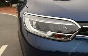For Renault Kadjar 2016-2018 Chrome Front Head Light Lamp Surrounds Cover NEW