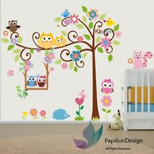 Animals tree owl flower Bird Squirrel Removable Nursery Baby wall Decal sticker