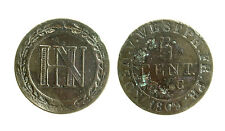 pcc1955_9)  German States WESTPHALIA 5 Centimes KM# 94 1809 C DEFECT