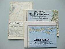 """National Geographic Maps """"Commonwealth Collection"""" of Three Maps...ref  C"""