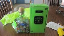 New Patron Bottle 375 ml Full Of Vintage Marbles; Bottle Has Never Been Used