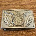 VTG Fork Union Military Academy Virginia Vintage Uniform Belt Buckle Pewter Tone