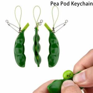 Portable Peas In A Pod Keyring Edamame Keychain Cute Bean Unzip The  QAYHUK