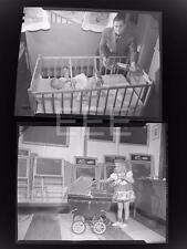 2 1946 Toys For Christmas Children Old Photo Negative Lot 483B