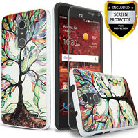 For ZTE ZMax One Phone Case, Shockproof Cover+HD Screen Protector+Stylus