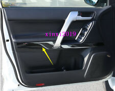 4x For Toyota Prado FJ150 2010-2018 Black Titanium Door Armrest Decor Bar cover