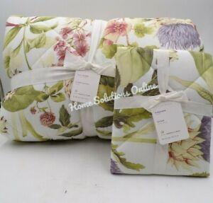 Pottery Barn Thistle Cotton Full Queen Comforter w/ Standard Sham Multi #9787B