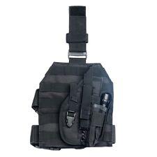 Outdoor Tactical MOLLE Drop Leg Platform Panel W/ Holster  BLACK