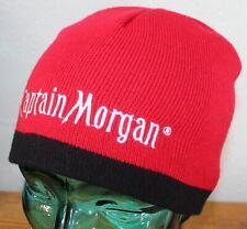 f145435798d CAPTAIN MORGAN WINTER SKI BEANIE HAT RED OSFM EXCELLENT CONDITION