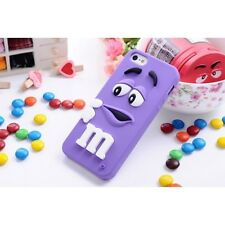 FUNDA CARCASA m&m EMANEMS PARA IPHONE 6/6s COLOR MORADA
