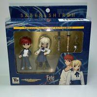 Saber & Shiroh Mini Figure Palm Scenery Fate Stay Night Anime PVC Statue NEW