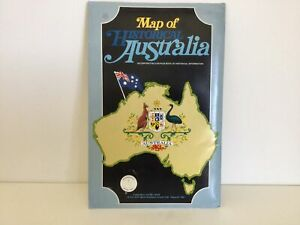 Map of Historical Australia with 68 Page Book of Historical Information #416