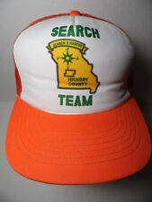 Vtg 1980s Search Rescue Team Hickory County Mo Advertising Snapback Trucker Hat