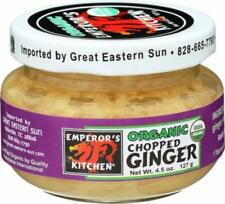 Emperor's Kitchen Organic Chopped Ginger 12 Pks Certified Organic and Non-Gmo