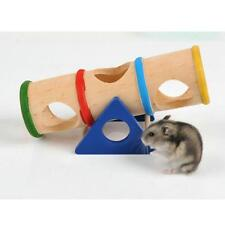 Hamster Wooden Tunnel Toy Porous Cage House Tube Hamsters Rat Toys For Small Pet