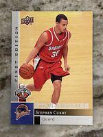 Steph Curry Upper Deck Star Rookies First Edition #196🔥🔥SHARP!