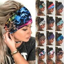 Women Wide Turban Headwraps Stretch Headband Sports Yoga Gym Elastic Hair Band