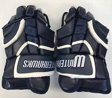 """New RYR Ice Hockey Player Gloves """"Winterhawks"""" Navy White senior 14"""" sr size"""