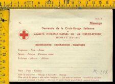 WW2 Regno Posta Militare Prigionieri di Guerra  k 118 modulo  croce rossa nuovo