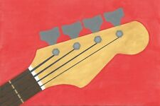 Short scale P Bass Guitar-une peinture originale par R. McCutcheon