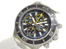 Auth BREITLING Super Ocean 44 Chrono A13341 Silver Men's Wrist Watch 2600327