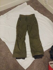 Orage Ski/Snowboard Pants Size Small Polyester Insulation (Green)