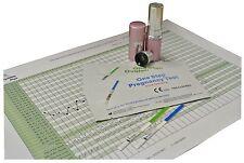 Fertility Saliva Test Kit + 5 Ovulation + 5 Pregnancy Urine Strips + Free Chart
