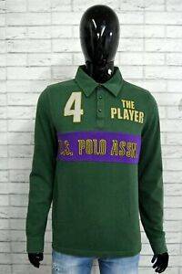 Polo US POLO ASSN Uomo Size M Maglietta Cotone Shirt T-Shirt Maglia Verde Jersey