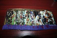 1996 CLASSIC CLEAR ASSETS $1 PHONE CARD SET (RIPKEN-SHAQ-RYAN-RHEAUME-AIKMAN)