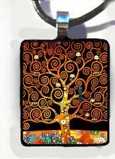 TREE of LIFE Gustav Klimt art unique charm Pendant For your Necklace