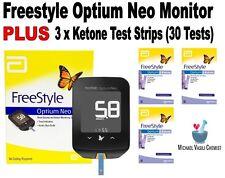Ketone Test Strip (3x10) PLUS FreeStyle Optium Neo Monitor Keto *VASILI CHEMIST*