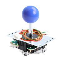 SANWA JLF-TP-8YT-SK OEM Purple blue Ball Top Handle Joystick 4 &8 Way Adjustable