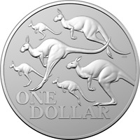 2020 Kangaroo Series - Red Kangaroo $1 1oz Silver Frosted UNC Coin
