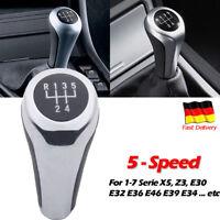 5 Gang Schaltknauf Manuell PU für BMW 3er 5er E30 E34 E36 E38 E39 E46 E60 E90