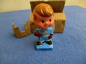 Rare 1962 NOS Toronto Maple Leafs Hockey Bobble Head Nodder W/ Box Japan